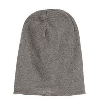 Rolled Edge Slouchy Beanie - Made In Britain  - Collections