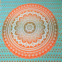 Ombre Mandala Tapestries, Wall hanging, Bed sheet, Picnic Beach Sheet, Wall Tapestry High Quality Boho Hippie Bedspread