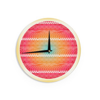 "Famenxt ""Romantic Pattern"" Red Abstract Wall Clock"