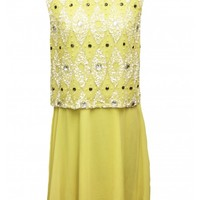 Embellished Overlay Bodice Dress - New In