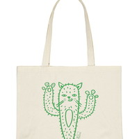 Stacy Michelson Cat-Tus Tote   Forever 21 - 1000171428