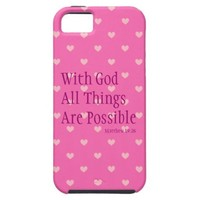 With God All Things Are Possible iPhone 5 Case from Zazzle.com