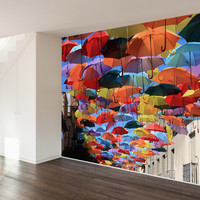 Umbrellas In Madrid Wall Mural Decal