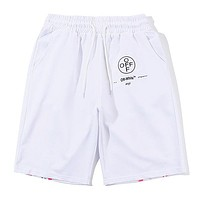 Off White Women Men Fashion Casual Shorts