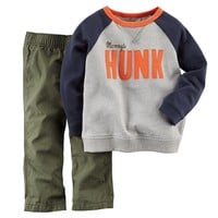 Carter's ''Mommy's Hunk'' French Terry Sweatshirt & Pants Set - Baby Boy, Size: