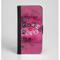 The Burn Book Pink Ink-Fuzed Leather Folding Wallet Case for the iPhone 6/6s, 6/6s Plus, 5/5s and 5c