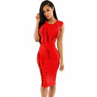 2016 women snake print pencil dress girls wearing Package Cut Out Bodycon waist hip sexy elegant dress