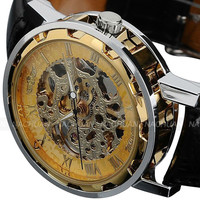 Men's Stainless Steel Skeleton Watch