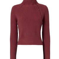Derek Lam 10 Crosby Asymmetric Ribbed Cashmere Sweater - INTERMIX®