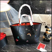 Coach X Disney Minnie Mouse Motif City Zip Tote Black Limited Edition F31207