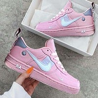 NIKE AIR FORCE 1 DUMR Fashion New Hook Women Men Sports Leisure Running Shoes Pink 1