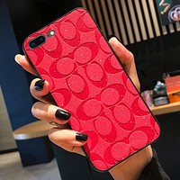 COACH Hot SaleWomen Men Fashion Personality iPhone Phone Cover Case For iphone 6 6s 6plus 6s-plus 7 7plus 8 8plus