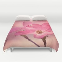 Colors of Spring: Pink Dogwood Duvet Cover by Legends Of Darkness Photography