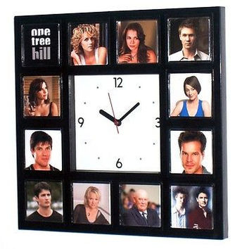 One Tree Hill TV Show Clock with 12 images of cast