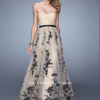Strapless Sweetheart La Femme Formal Prom Gown 20488
