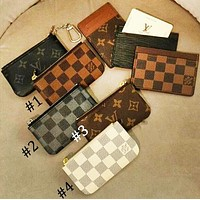 LV tide brand female classic old fashion zipper key case