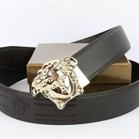 Versace Collection Black Leather Men's Versace Belt
