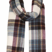 TRUE PLAID CHECK SCARF
