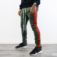 Kaden Track Pants (Green/red)