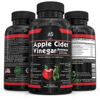 Angry Supplements Apple Cider Vinegar Pills for Weightloss - Natural Detox Remedy Includes Gymnema, Cinnamon, CLAs, and Garcinia.