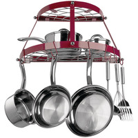 Range Kleen Double Shelf Wall Mount Pot Rack (red Enamel)
