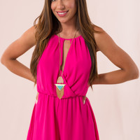 Port-of-call Romper in Pink
