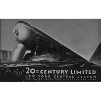 Railroad 20Th Century Limited Railway poster Metal Sign Wall Art 8in x 12in Black and White