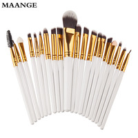 20Pcs Maange Professional makeup brushes Powder Foundation rose gold brush Eyeshadow ovale makeup brush maquiagem cosmetics