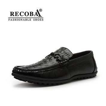 Men casual genuine leather black brown penny flat moccasins slip on driving shoes hombre for men boat shoes