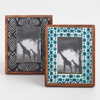 Shibori Mini Bone Frames Set of 2