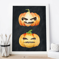 Pumpkin, Pumpkin Poster, Halloween Decoration, Halloween Poster, Halloween Printable Art, Halloween Room Decor, Happy Halloween, Pumpkins