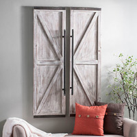 Wooden Faux Barn Door Plaque