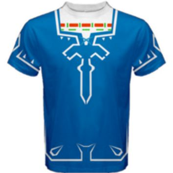 Link Tunic Sword Breath of the Wild Mens T Shirt XS-3XL - MADE TO ORDER
