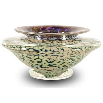 Ikebana Flower Bowl - Hand Blown Glass Sculpture by GartnerBlade Glass