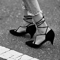 Jeffrey Campbell + Free People Womens Andra Kitten Heel