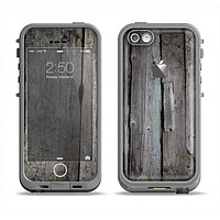 The Cracked Wooden Planks Apple iPhone 5c LifeProof Fre Case Skin Set