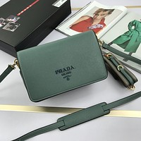 prada newest popular women leather handbag tote crossbody shoulder bag satchel 69