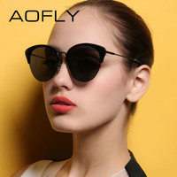 AOFLY Luxury Polarized Sunglasses Vintage Fashion Cat Eyes Sun glasses For Women Brand Designer gafas de sol Femenino AF79100