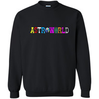 Funny Astroworlds  Hip-hop Fans Printed Crewneck Pullover Sweatshirt