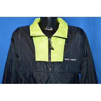 90s Ocean Pacific Neon Windbreaker Jacket Medium