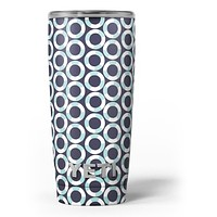 The All Over Teal and White Life Floats - Skin Decal Vinyl Wrap Kit compatible with the Yeti Rambler Cooler Tumbler Cups