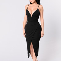 Be Right There Dress - Black