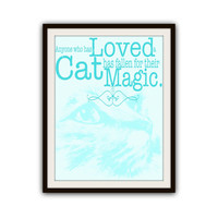 Cat Lovers Quotes Typography Poster Print