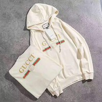 Gucci Fashion Long Sleeve Hooded Print Embroider Casual Sweater G-A-GHSY-1