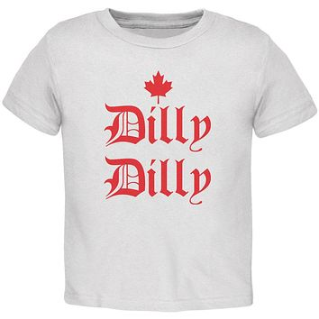 Dilly Dilly Canada Day Flag Maple Leaf Toddler T Shirt