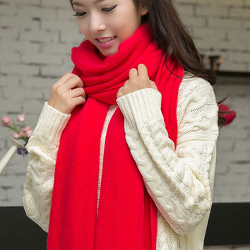 Solid Color Knitted Scarves - 9 Colors
