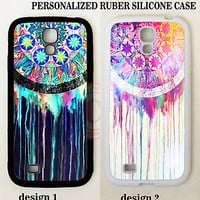 CUSTOM BLACK PINK WHITE VINTAGE DREAMCATCHER CASE COVER For Samsung Galaxy S7 S6