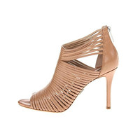 Michael Kors Womens Maxi Leather Toffee Strappy Sandals