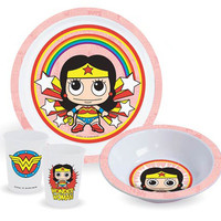 WONDER WOMAN KID'S DINNER SET