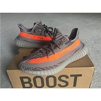 2017 SPLY-350 Boost V2 2016 New Kanye West Boost 350 V2 SPLY Running Shoes Grey Orange Stripes Zebra Bred Black Red 10 Color